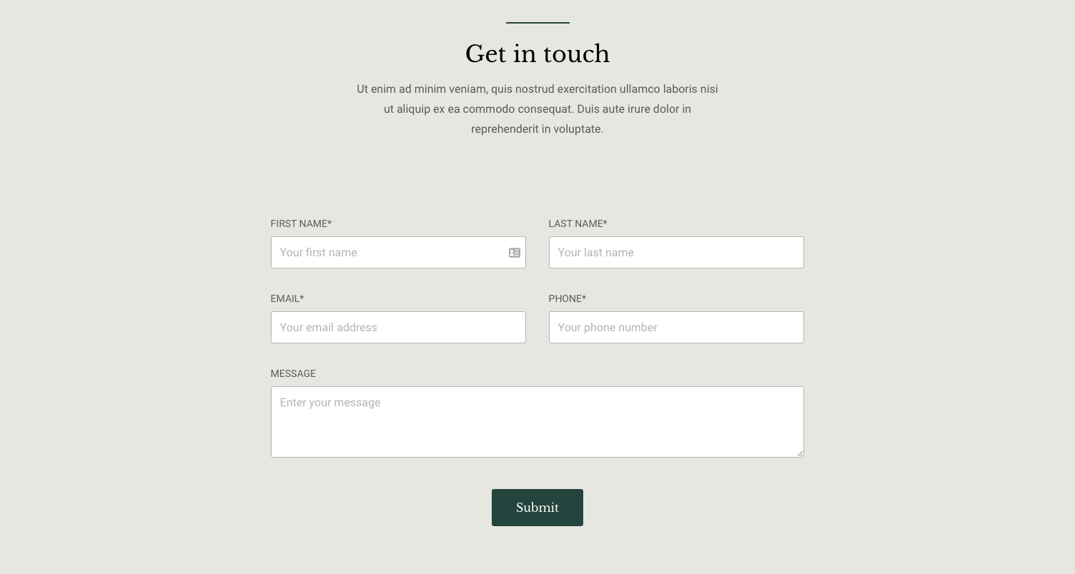Mono website form