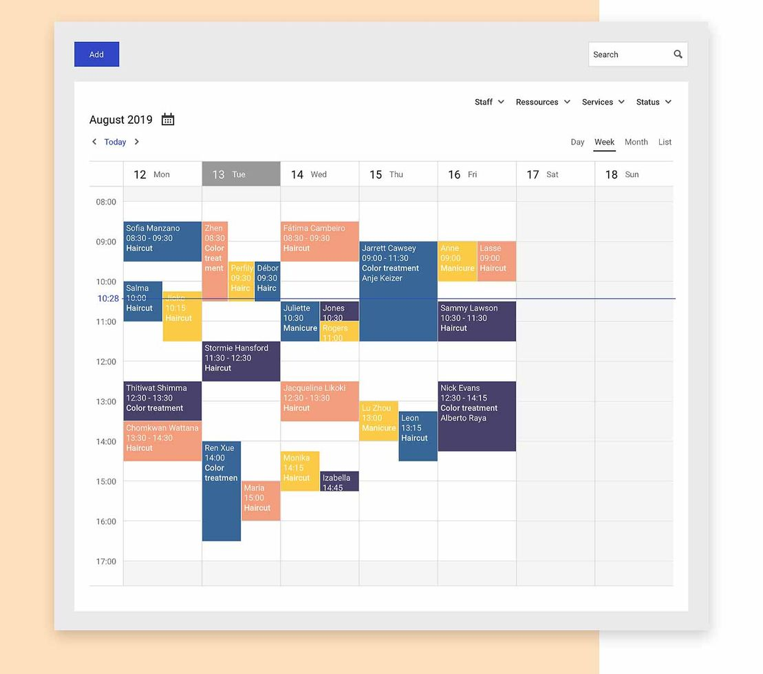 Mono Scheduling is displayed to show an example of a calendar view.